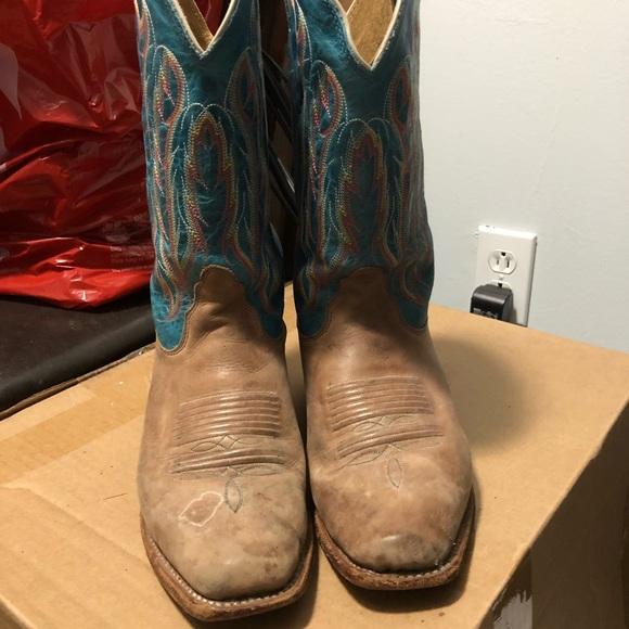 14bf7d3a18c Nocona ladies boots 8.5 square toe blue top